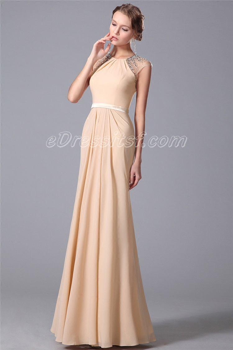 Formal party gown crystal beading robe de soiree courte evening long sexy cap sleeve michael korns mother of the bride dresses