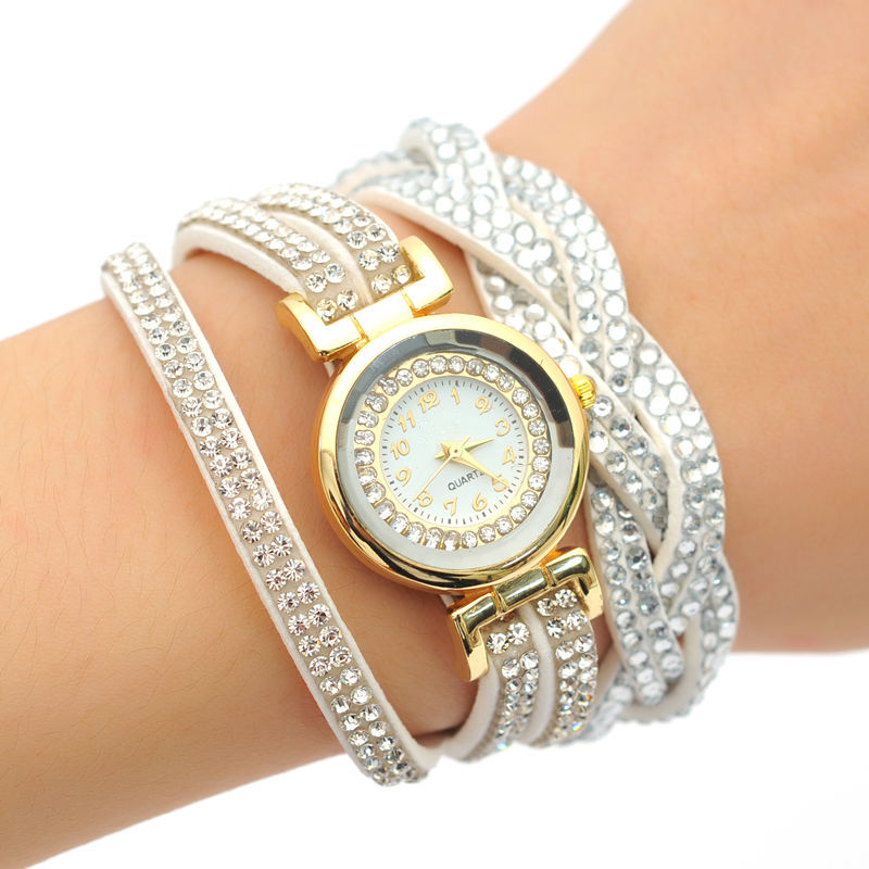 Fashion Luxury Rhinestone Bracelet Women Watch Lady Quartz ...