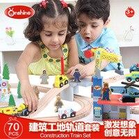 Деревянный самолет Ping вагон Сюжетные игрушки костюм, творческий сборки игрушки. детские развивающие игрушки, модели и строительство игрушк