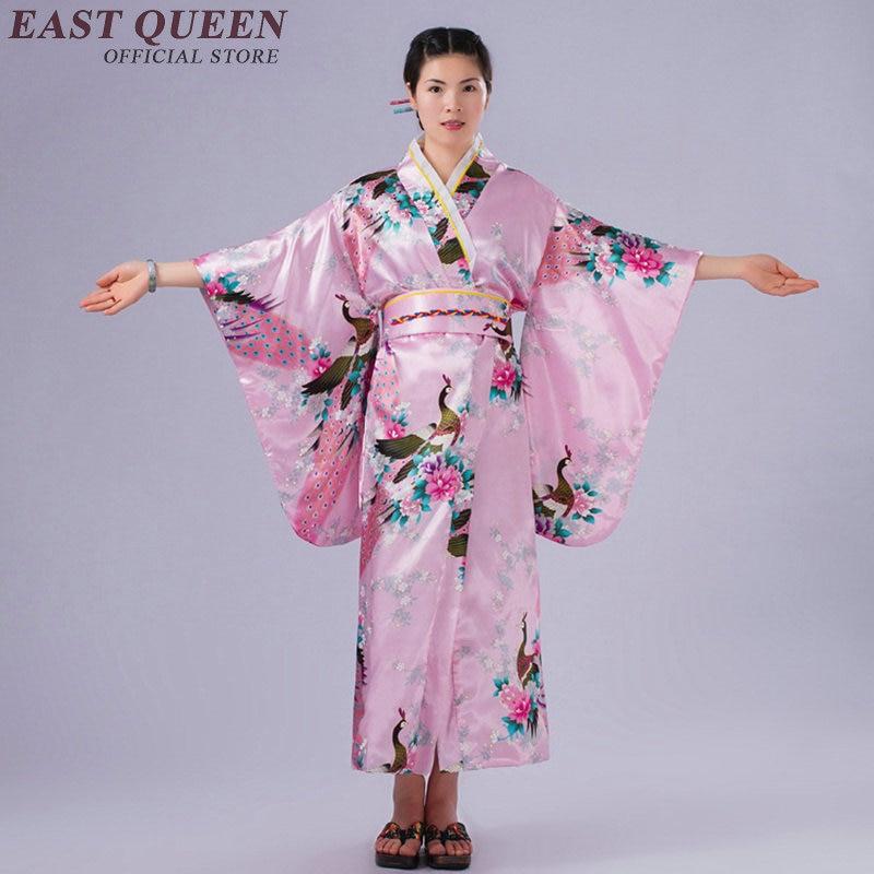 100% Waar Japanse Kimono Traditionele Jurk Cosplay Vrouwelijke Yukata Vrouwen Haori Japan Geisha Kostuum Obi Kimono Vrouw 2018 Kk1458 Uitstekende Eigenschappen