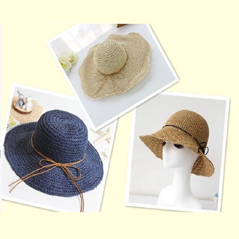Aliexpress.com: Comprar Algodón hierba Lafite hilo Crochet sombrero ...