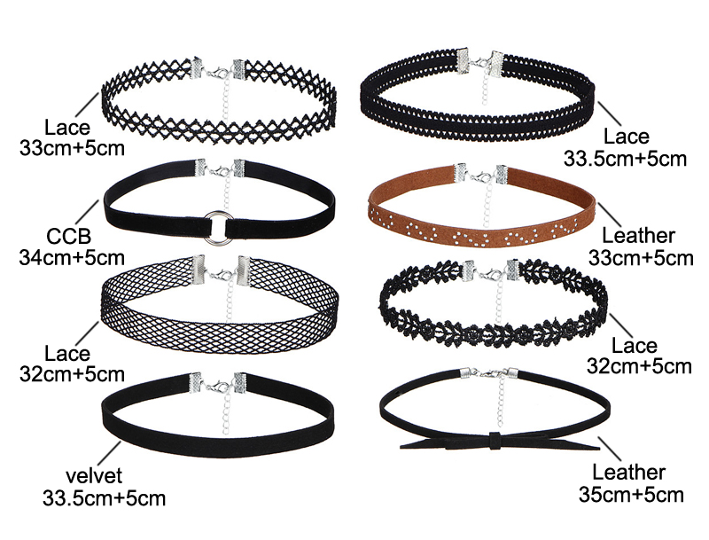 17KM-8-PCS-Set-PU-Leather-Choker-Necklaces-Set-for-Women-Steampunk-Collar-Lace-Necklace-Jewelry