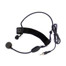 Me3 Проводная гарнитура с микрофоном 3,5 мм разъемом с винтовым разъемом, конденсаторный микрофон для UHF беспроводной системы, передатчик