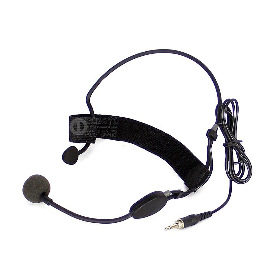 Me3 Filaire Serre-Tête Casque Microphone 3.5mm Jack Mâle Connecteur À Vis Micro À Condensateur Pour UHF Sans Fil Système la Croix-bodybelt Émetteur