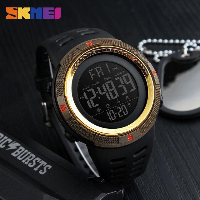 Men's Sports Watch Countdown Double Time Alarm Chronograph Digital