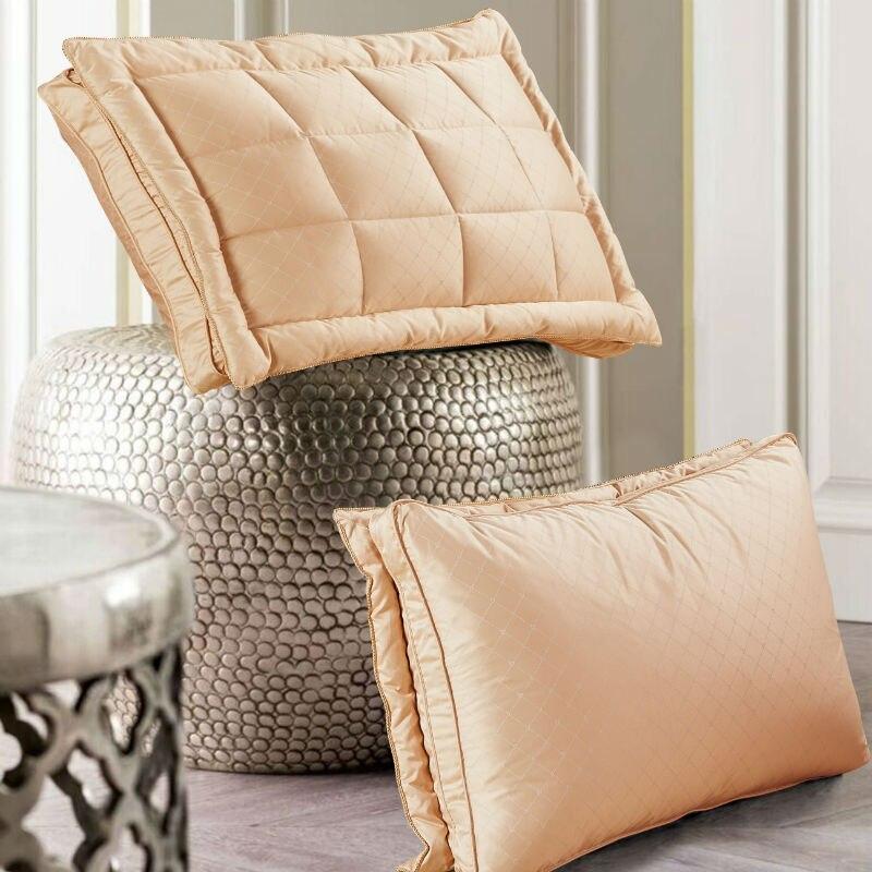 За облако 48*74 см роскошные Дизайн 3D хлеб белая утка/гусь пуховая подушка Стандартный антибактериальные элегантный домашний текстиль 004