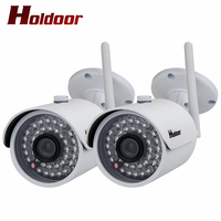 2 Pcs Ip Cameras Wifi 1080p HD Cctv Security Wireless Cam Surveillance System Home Indoor Outdoor