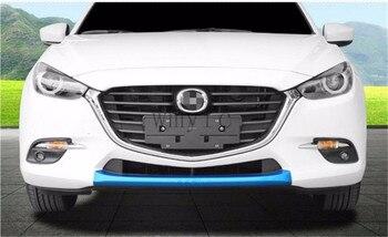 車のスタイリングabsフロントバンパーグリルトリム装飾ボディ修正ハイライトバー用マツダ3アクセラ2017