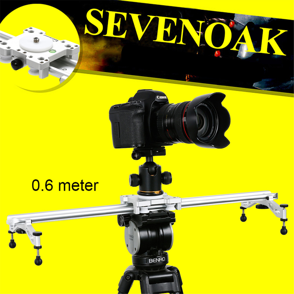 23 Sevenoak SK-LS60 Wholesale Mini Camera Video Slider Track Dolly for Gopro Canon Nikon Sigma Sony DV sevenoak sk gh01 hard gimbal head with quick release for canon nikon sony pentax olympus sigma gopro dslr camera mini camcorders