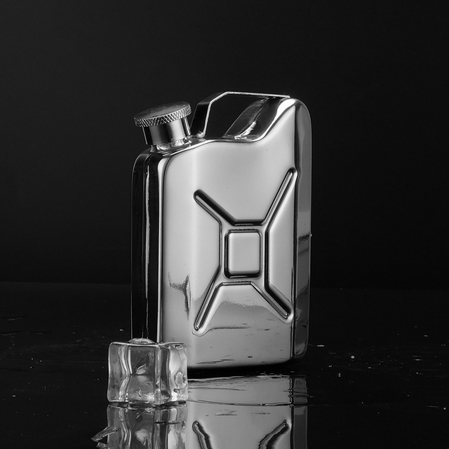 Gasoline Drum Unique Design Camping Flagon Portable Stainless Steel Hip Flask Drinkware Travel Petrol Tank Flasks Alcohol Wine