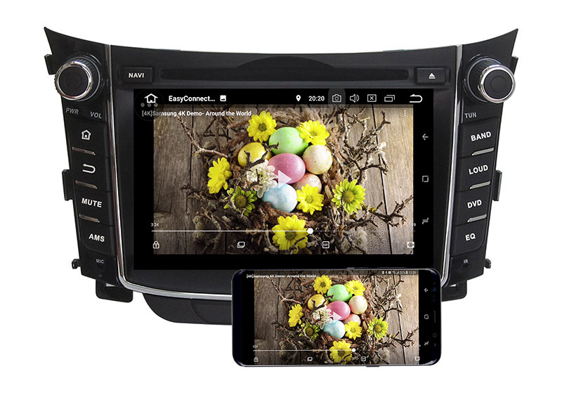 hyundai i30 head unit android 8.0 aftermarket stereo radio replacement 5
