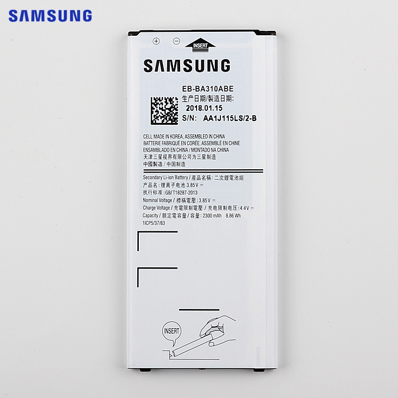 samsung original replacement battery eb ba310abe for samsung galaxy a3 2016 edition a310 a5310a. Black Bedroom Furniture Sets. Home Design Ideas