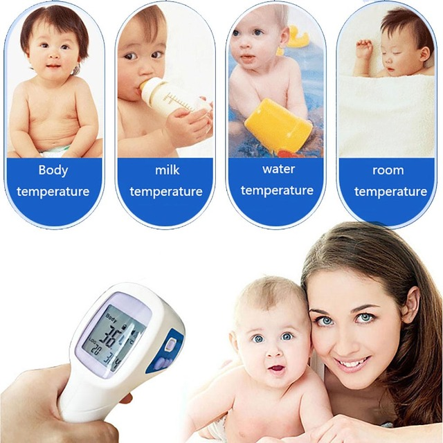 Baby Adult Digital Non-contact Infrared IR Forehead Body Surface LCD Thermometer