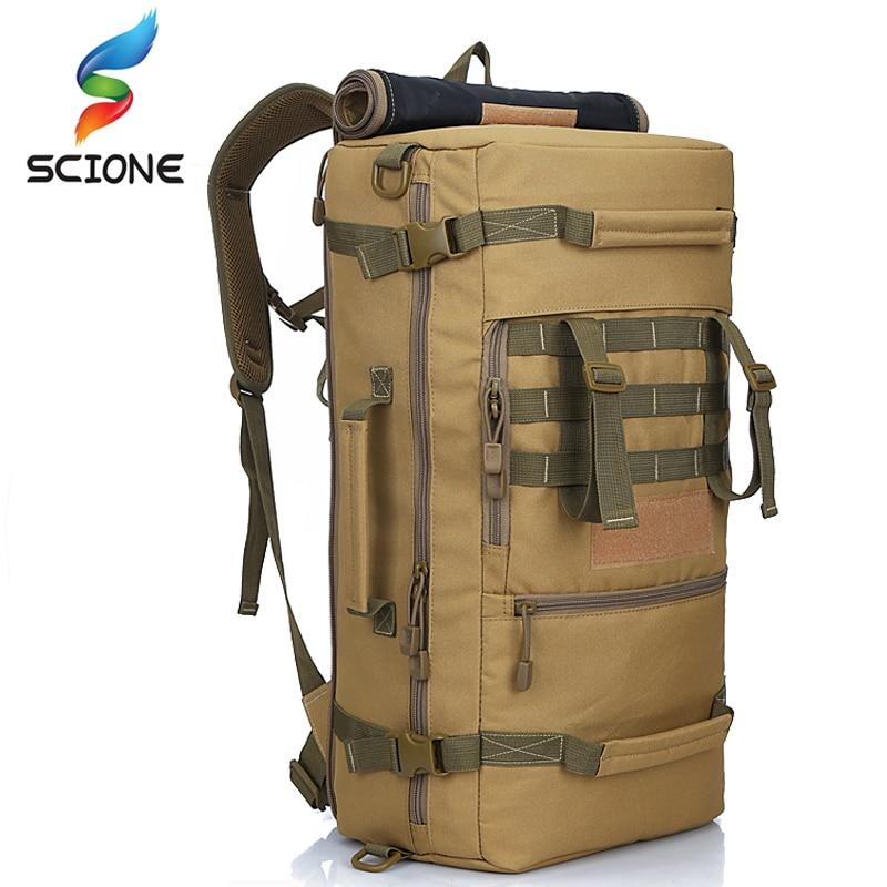 2018 caliente de calidad superior 50L nueva táctica militar mochila Camping bolsas bolso del alpinismo de los hombres senderismo mochila de viaje