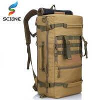 Alta calidad 50L nueva mochila táctica militar mochila de Camping bolsas de Montañismo mochila de senderismo para hombre mochila de viaje