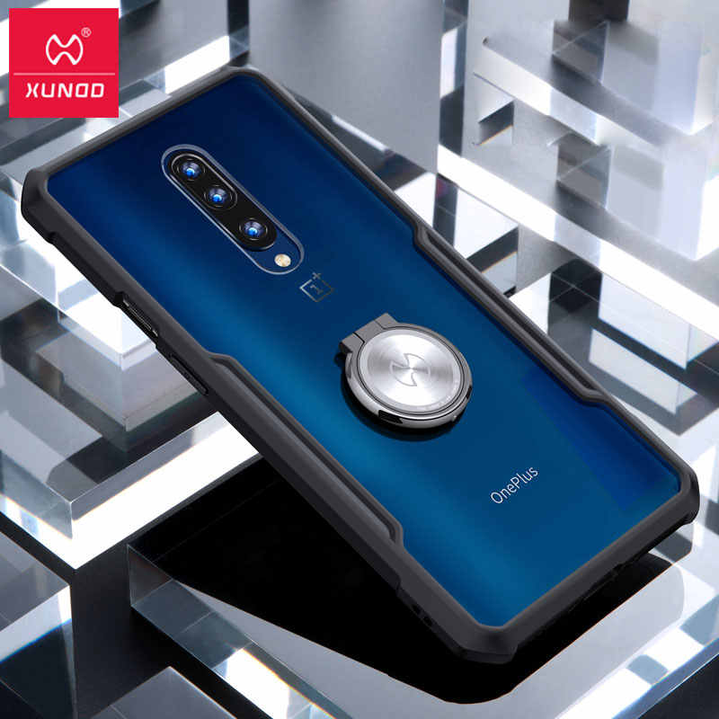 Xundd For Oneplus 7 Pro Case Magnetic Car Holder Stand Finger Ring Transparent Pc Tpu Back Cover For Oneplus 7 Oneplus 7pro Case Phone Case Covers Aliexpress