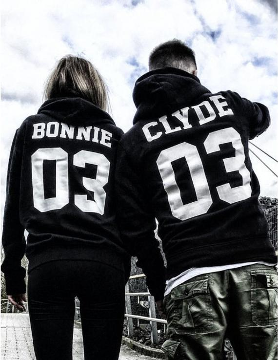 Sugarbaby Bonnie Clyde 03 matching Sweatshirt Clyde Bonnie Couple
