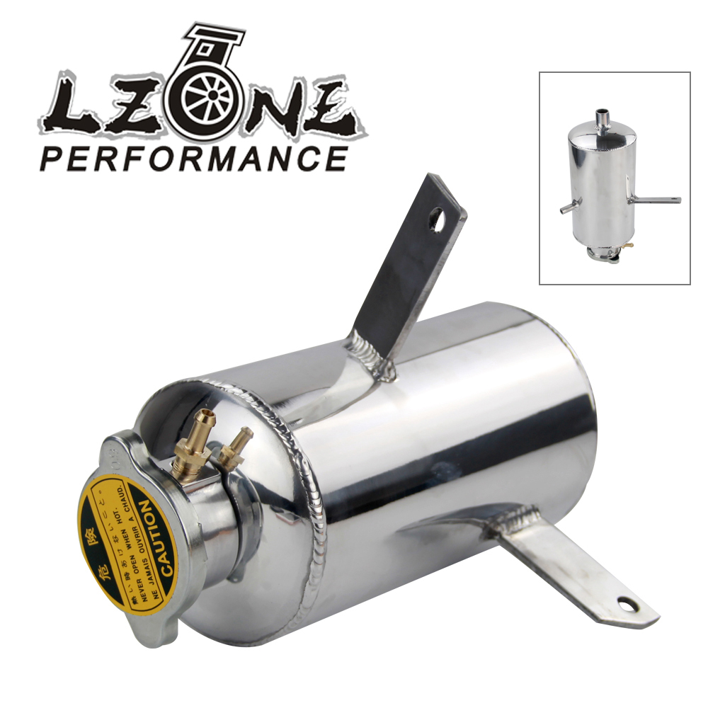 LZONE Universal 1.5L Water Tank & Oil Catch Tank Can Alloy Aluminum Mirror Polished Water Catch Can Fuel Tank With Cap TK09