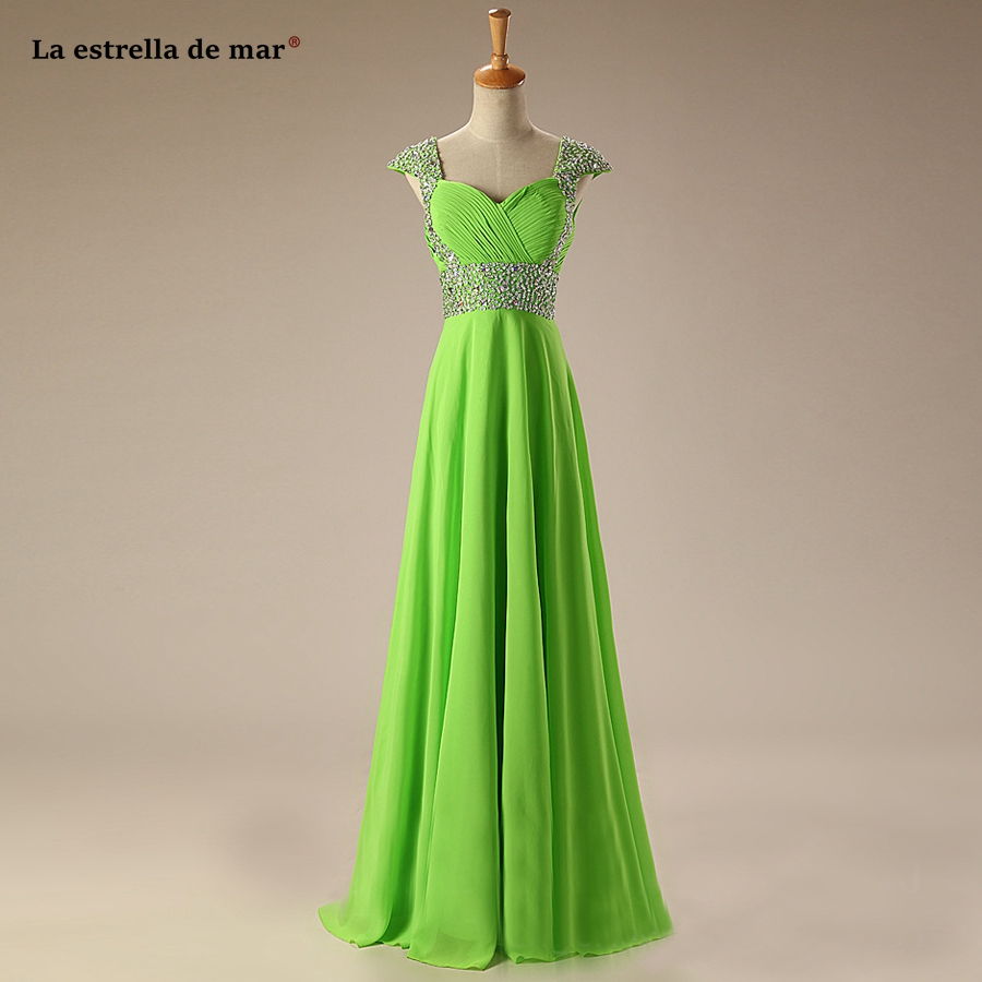 vestido madrinha high quality sexy V neck cap sleeve A Line turquoise lime green blush pink   bridesmaid     dress   long plus size