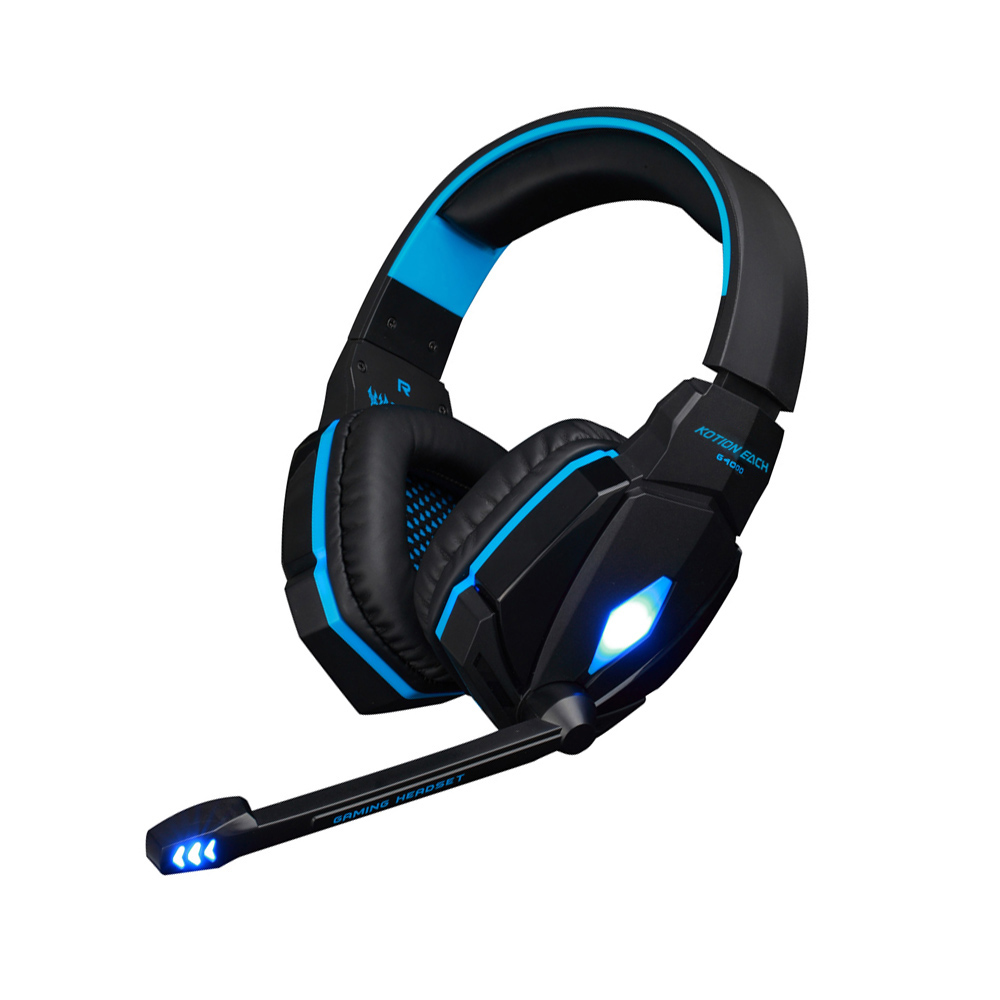 EACH G4000 Gaming Headset Stereo Music Headphone 2.2M Wired Headband Earphone w/ Microphone/LED Light Anti-Noise For Computer PC g1100 3 5mm pro gaming headset headphone for ps4 laptop crack pattern led led blue black red white