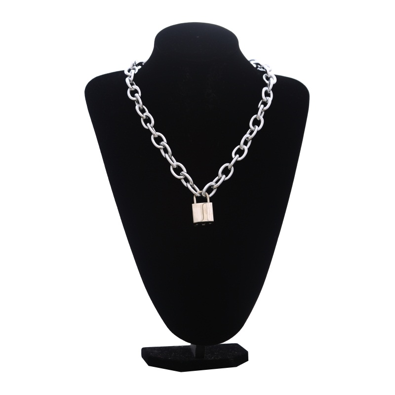 FNQUFUJ Punk Lock women/men Gothic chain choker trendy