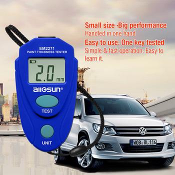 All Sun EM2271 rosja instrukcja cyfrowy Mini samochodowy miernik grubości lakieru farby grubościomierz Auto Coating tanie i dobre opinie