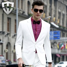 MWAMI High Quality 2015 New Winter Autumn Men Formal Suits Jackets Business Wedding Super Slim Single Double Breasted Young Man