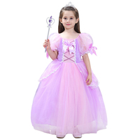 Kids Renaissance Rapunzel Princess Dresses Costumes For Girls Halloween Ball Gown Birthday Wedding Party Cosplay Size S XXL