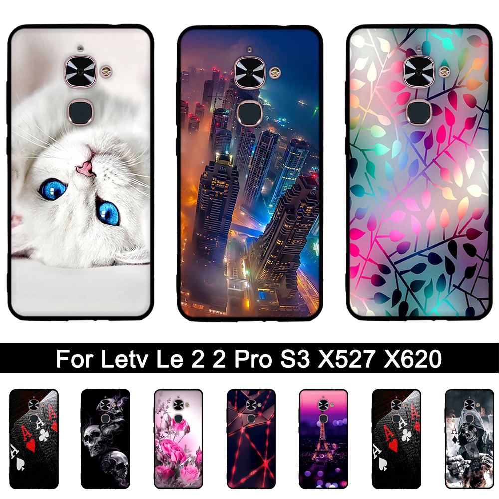 3D Relief Soft TPU Case Voor Letv Le 2 2 Pro X527 X620 Siliconen Cover Voor LeEco Le Eco S3 X626 Back Phone Cases Print Shells Tassen