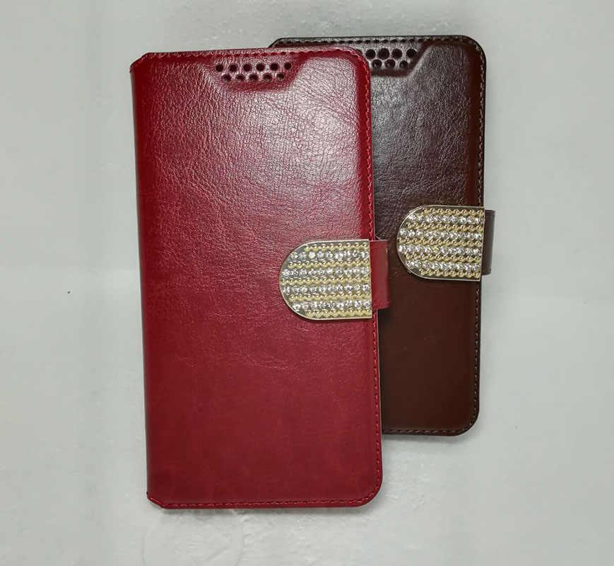 Funda billetera para Vertex Impress In Touch Jazz Lux Mars Moon más estrella alta calidad Flip cuero protector teléfono móvil cubierta