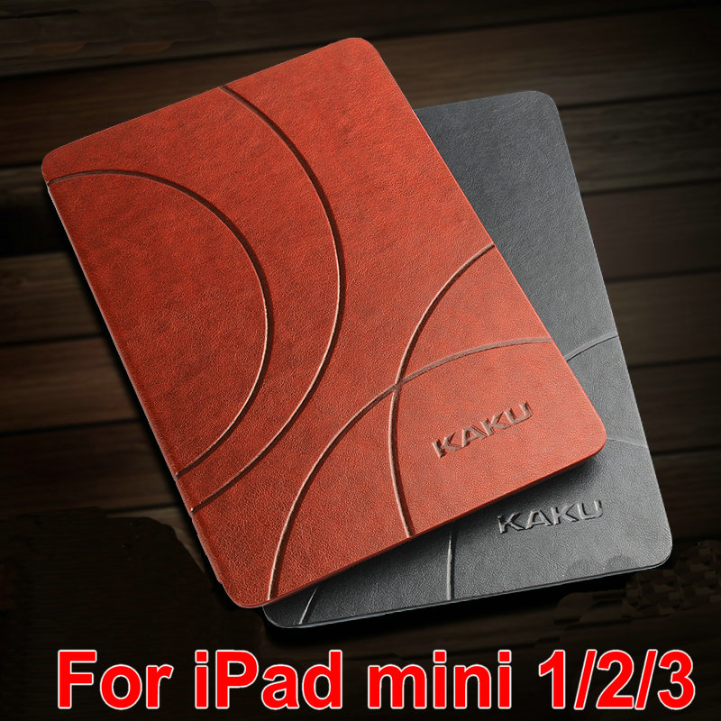 Original Retro line Case for iPad mini smart cover case with Stand luxury Utrathin Leather cover for mini 1/2/3 case Cover