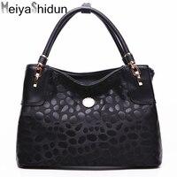 MeiyaShidun New European And American Women Bag Printing Handbag Brand Leather Shoulder Bag Casual Tote Top