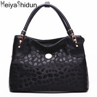 MeiyaShidun New European And American Women Bag Printing Handbag Brand Leather Shoulder Bag Casual Tote Top