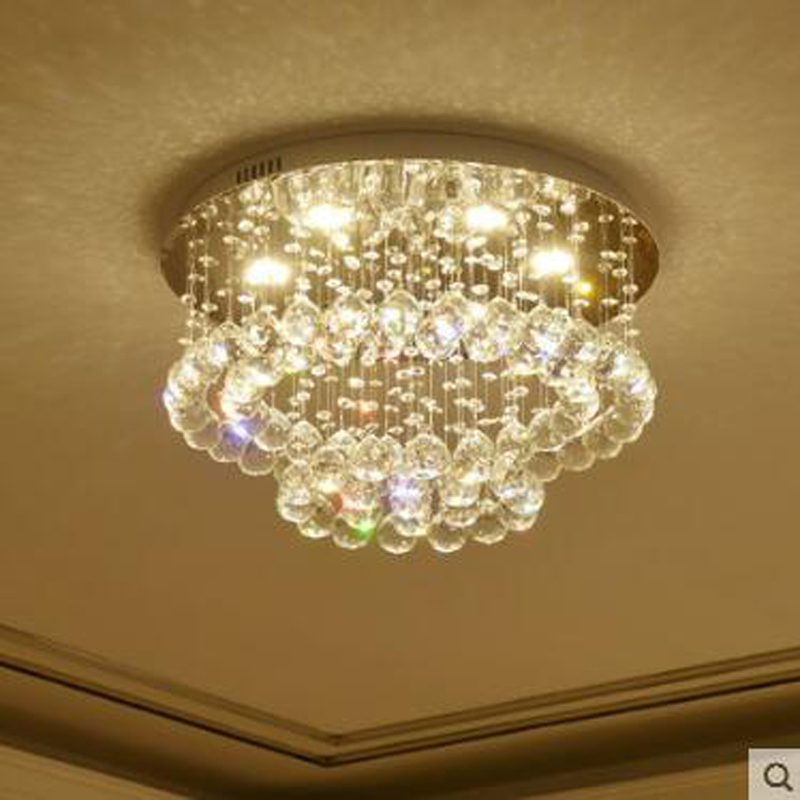 Crystal ceiling lamp simple modern round bedroom lamp warm romantic children's room lighting luxury crystal lamps led lighting modern simple oval bedroom lighting living room crystal ceiling lamp creative restaurant dining room led crystal hanging lamps