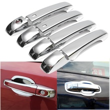 ABS Chrome Stylings Rear Car Exterior Outside Door Handle Cover Moldings With Intelligent Key for Jeep Grand Cherokee 2011-2015