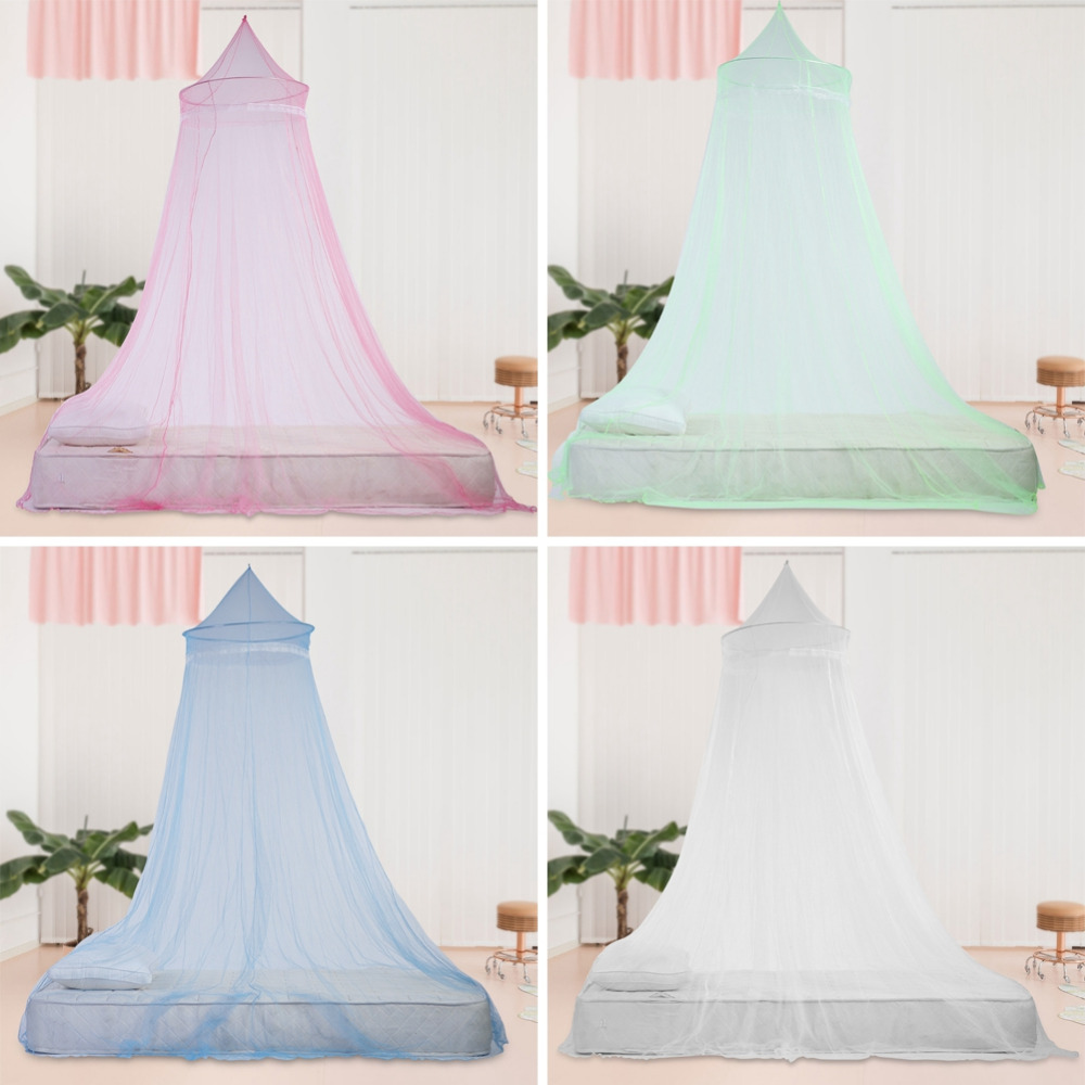 Official Website Baby Crib Netting Hung Dome Bed Canopy Portable Tent Childrens Bedding Round Lace Mosquito Net For Baby Sleeping 4 Colors 2018 Fine Quality Baby Bedding