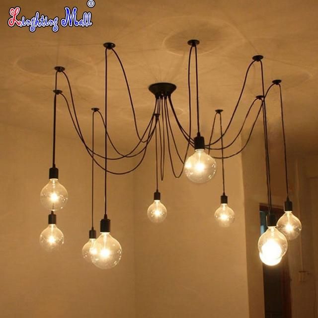w led 10 heads e27 vintage diy ceiling light fixtures adjustable flush mount lighting lamp adjustable lighting fixtures