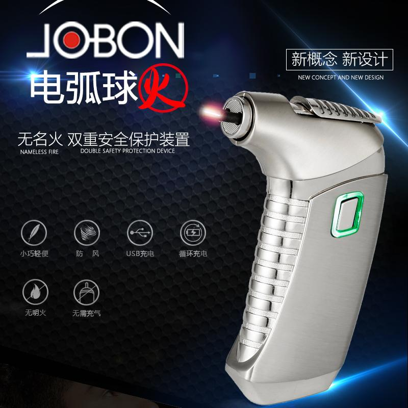 2018 New Pipe lighter Electric plasma pulse of cigarette, cigar and smoked smoke of double arc USB tube of metal proof lighter