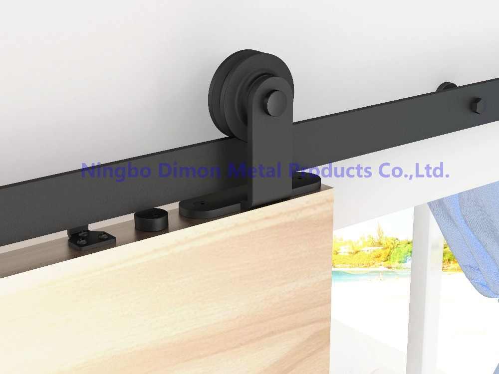 Бесплатная доставка Dimon Высококачественная деревянная внутренняя раздвижная дверь оборудование DM-SDU 7202 с мягким закрытием (без раздвижных рельсов)