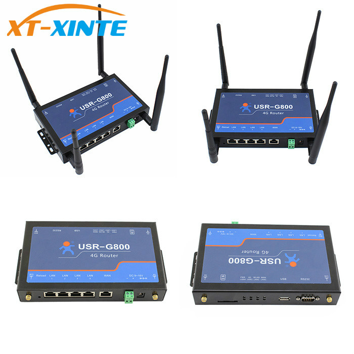 USR-G800-A 4G industrial LTE VPN Router with RS232 interface wireless 802.11 b/n/g 100m industrial 4g vpn router f3836 for atm kiosk substation vehicle