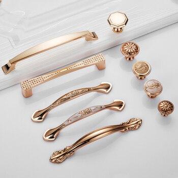 Gold Door Handles Wardrobe Drawer Pulls Kitchen  1