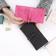 Leather Leaf Long Wallet