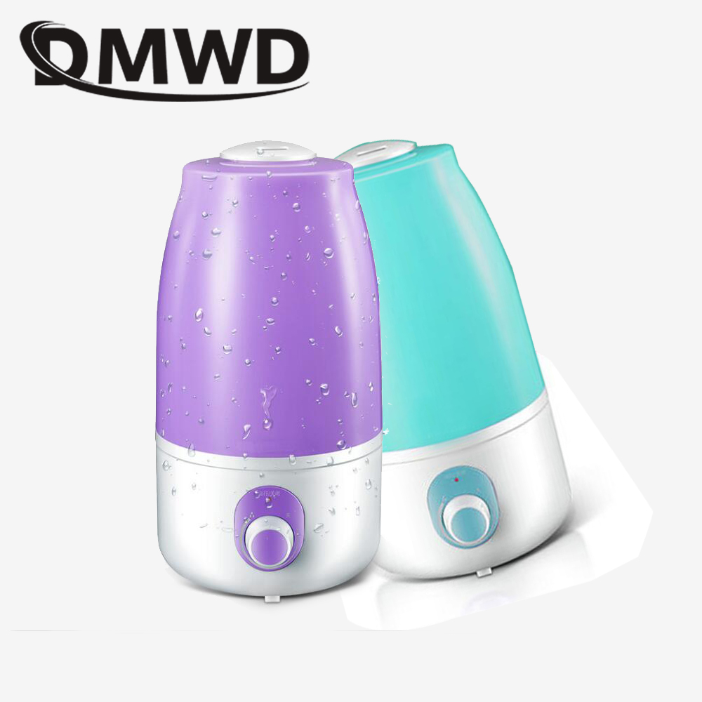 DMWD 4L MINI Electric Ultrasonic Humidifier Essential Oil Diffuser Aromatherapy Air Purifier Mist Maker home office Fogger EU US все цены