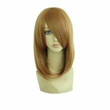 Mcoser 45 см среднего синтетических светло-коричневый косплей костюм парик 100% Высокая температура волокна волос WIG-022C