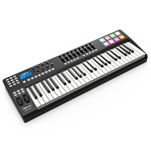 PANDA49 49 Phím MIDI Bàn Phím MIDI Điều Khiển USB Điều Khiển Bàn Phím MIDI 8 Trống Miếng Lót Với Cáp USB Trắng Hoặc Trắng đèn RGB Backlit