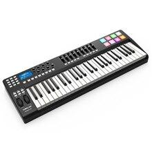 PANDA49 49キーmidiキーボードmidiコントロールusbコントローラmidiキーボード8ドラムパッドusbケーブル白またはrgbライト、バックライト