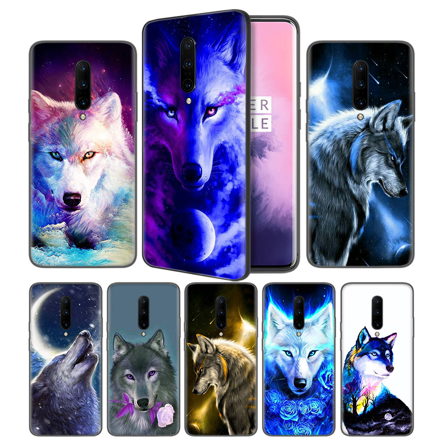 Wolf painting Soft Black Silicone Case Cover for font b OnePlus b font 6 6T font