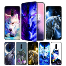 Wolf painting Soft Black Silicone Case Cover for OnePlus 6 6T 7 Pro 5G Ultra-thin TPU Phone Back Protective