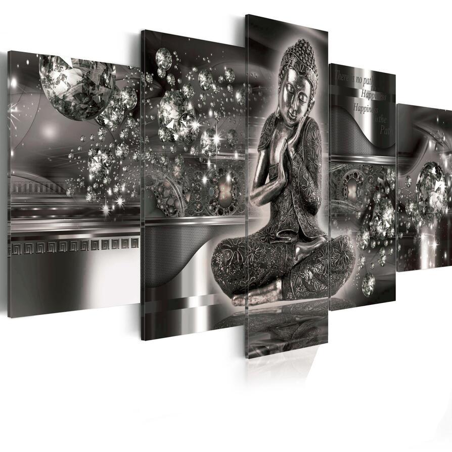 5 pc Plein Carré/Rond Forage 5D BRICOLAGE Diamant Peinture Bouddha religion 3D Broderie Point De Croix Mosaïque Décor À La Maison dp
