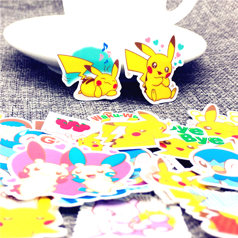 40 Pcs/Lot Mini magical animals Cute Self made stickers scrapbooking For Cartoon Sticker For Laptop Fridge Skateboard-in Stickers from Home & Garden